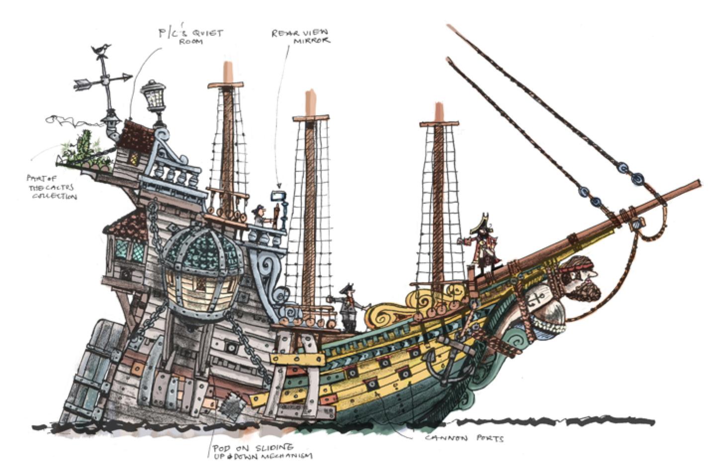 Aardman Pirate Ship Pirate Crafts Homemade Pirate Costumes