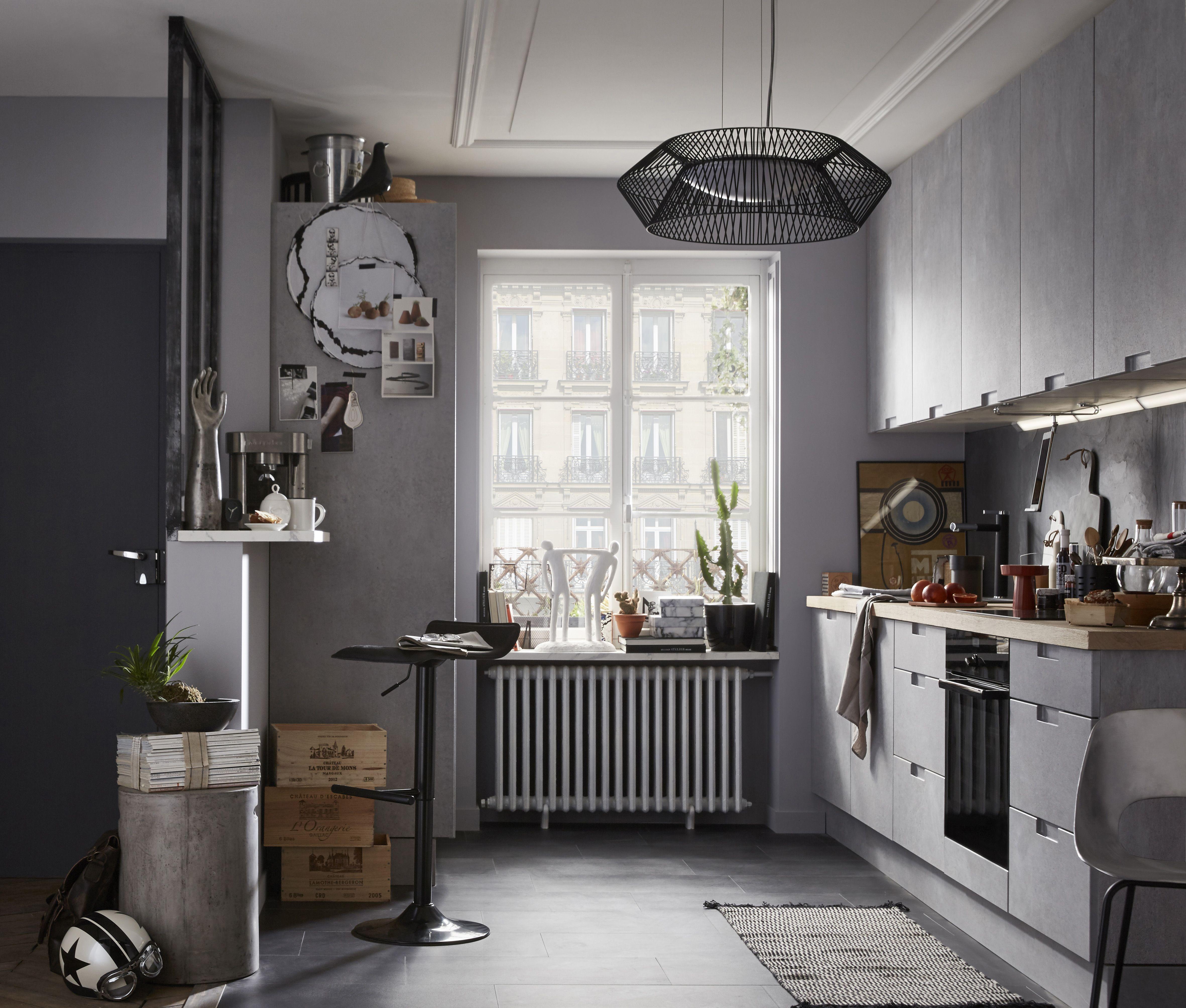 Cuisine moderne effet beton gris: equipée modèle Delinia Berlin ...