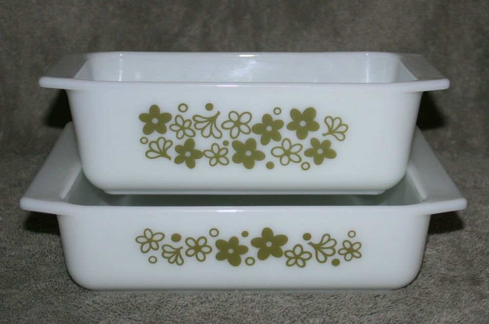 Details About Pyrex Spring Blossom Green Crazy Daisy 913