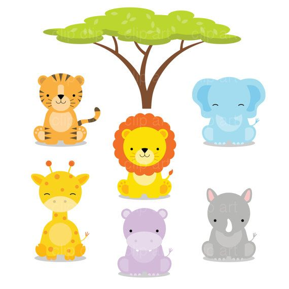 safari baby animals clipart jungle animals clipart zoo animals rh pinterest com au baby jungle animals clipart black and white baby shower jungle animals clipart