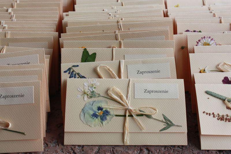 zaproszenie ślubne Kwiecista Łąka / dried flowers wedding invitations