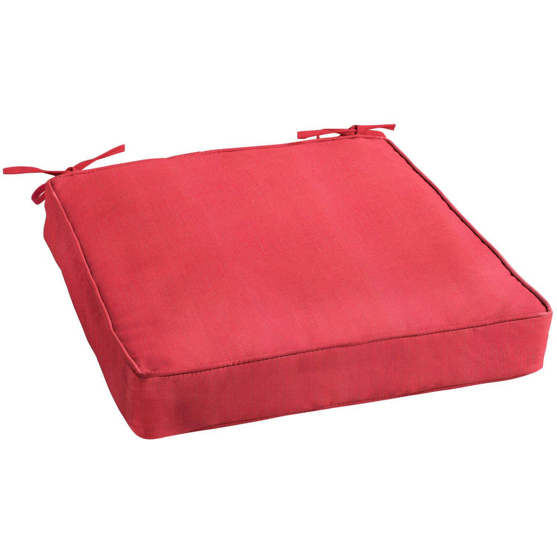Sunbrella 20 Seat Cushion In Dupione Crimson Chair Cushions