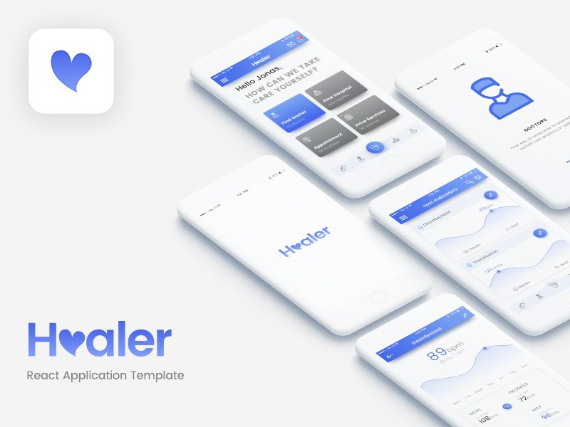 Healer React Application Template Mobile app - application template