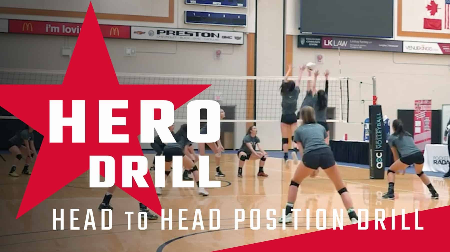 Hero Drill Head To Head Position Drill Coaching Volleyball Volleyball Drills Volleyball