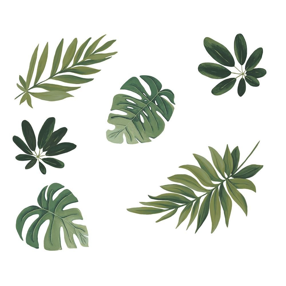 Wall Pops Green Havana Leaves Wall Decal Dwpk2761 Flower