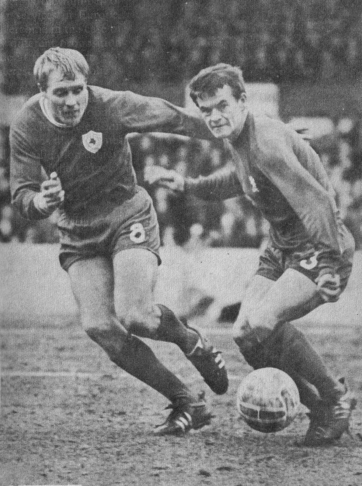 16th March 1967. Chelsea full back Eddie McCreadie put ...