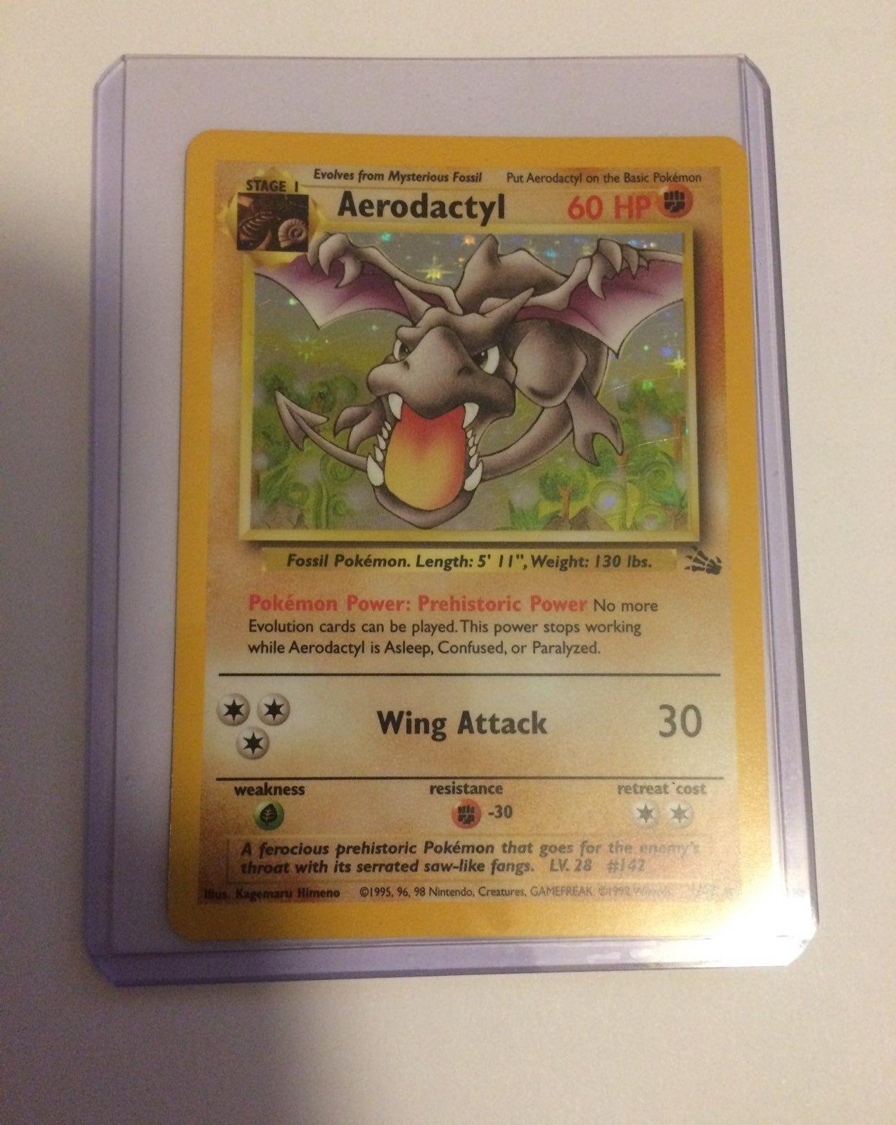 Rare Aerodactyl 1//62 Fossil Set HOLO Pokemon Card