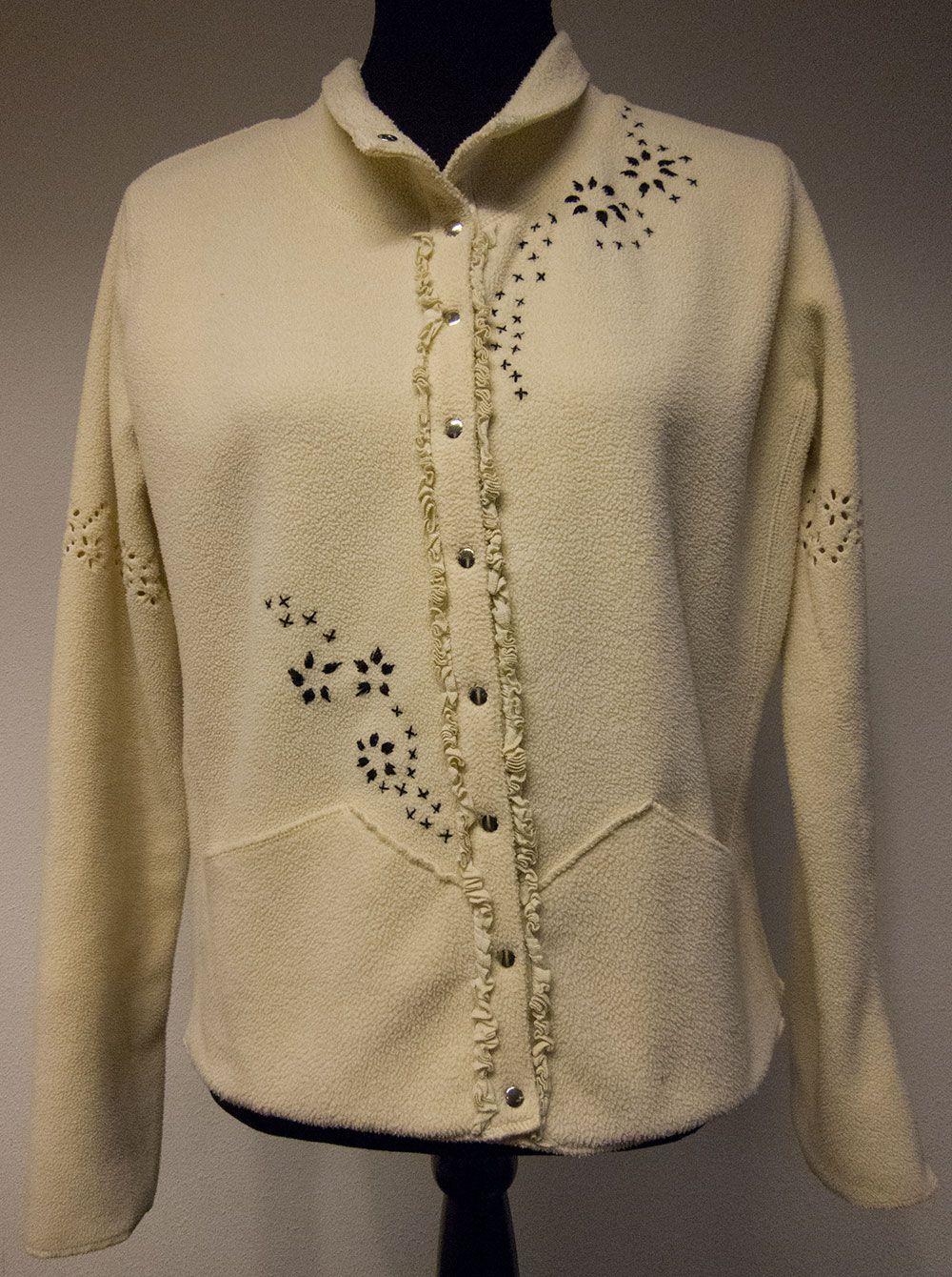 Zwart jasje met bladeren opdruk jassen en blouses pinterest