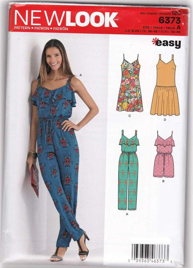 ff28a3d7b4d7 Women Jumpsuit Rompers Dresses Sewing Pattern New Look 6373 Sz 8-20 –  SewJewel