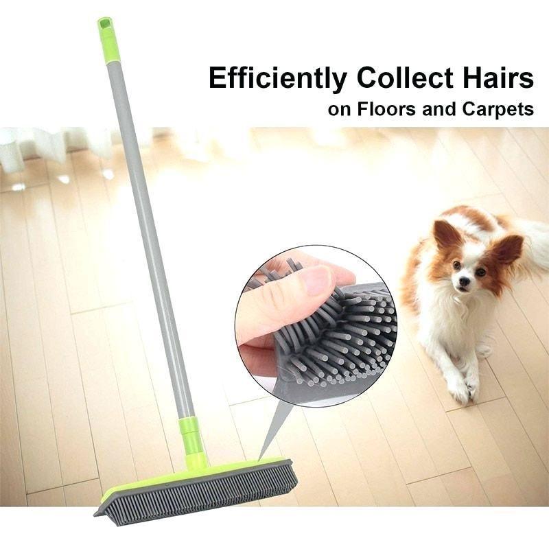 The Miracle Broom Rubber broom, Pet hair removal, Broom