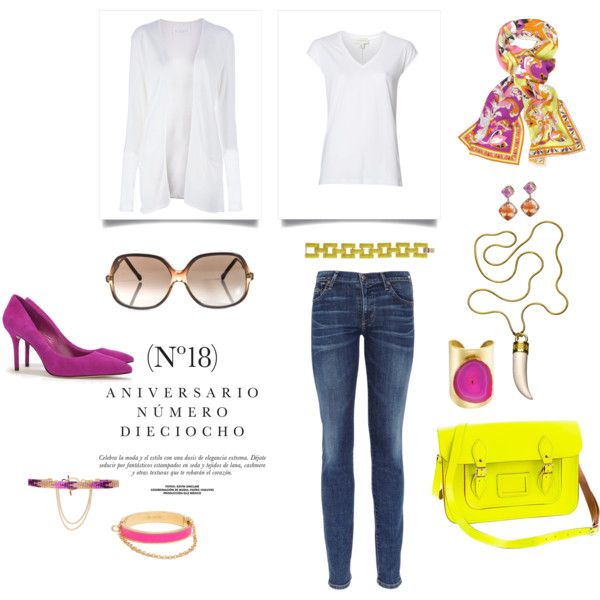 """""""white tee fabulous"""" by angela-fields on Polyvore"""
