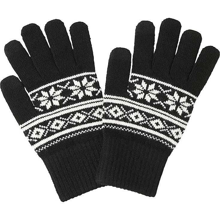 Men heattech knit gloves (fairisle) | Gloves and Craft