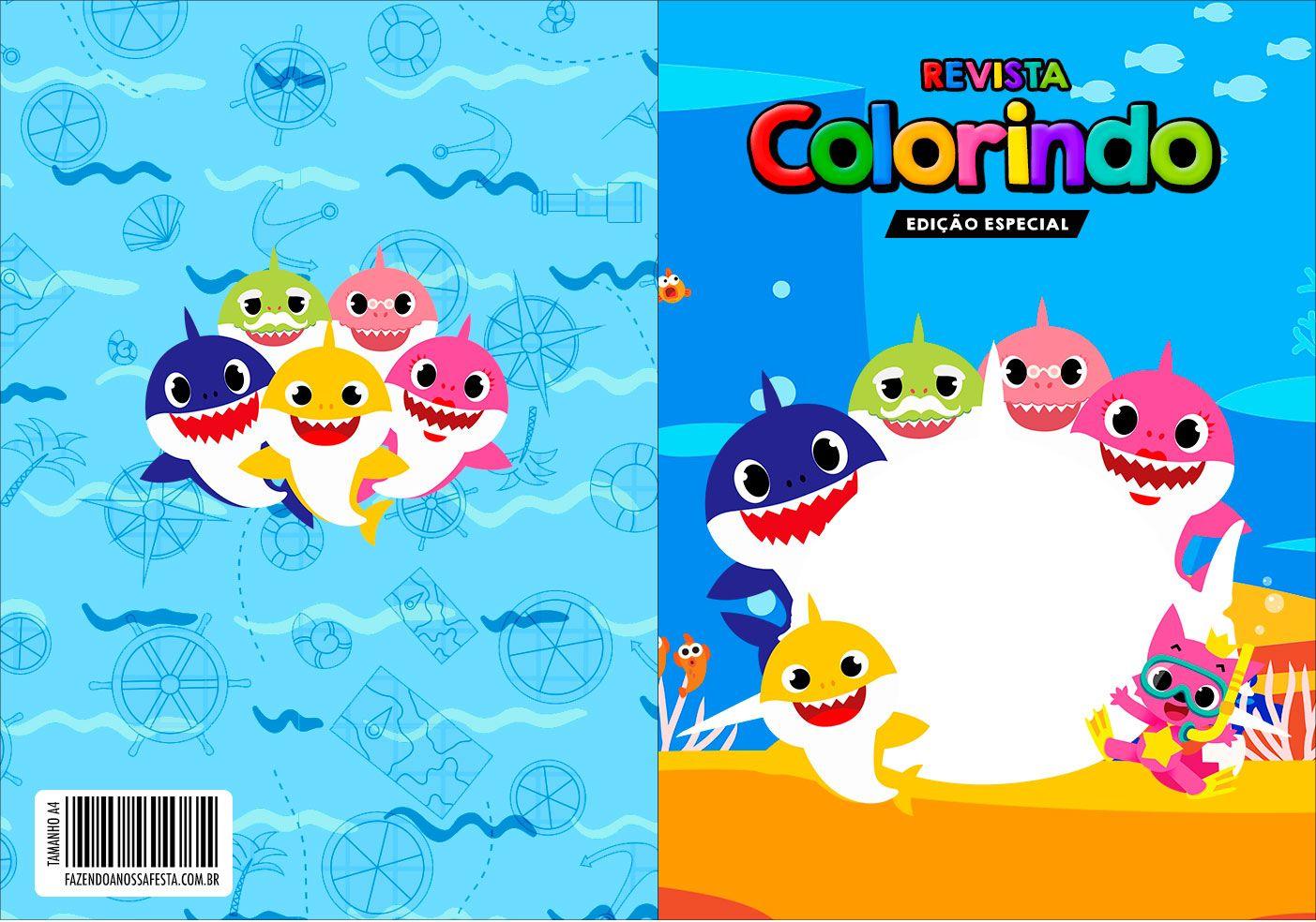 Pin De Jenny Velobel Em Baby Shark Kit Festa Kit Colorir