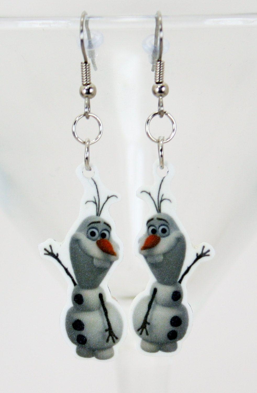 Olaf Frozen Earrings SD FS by JegasCreations on Etsy, $7.95
