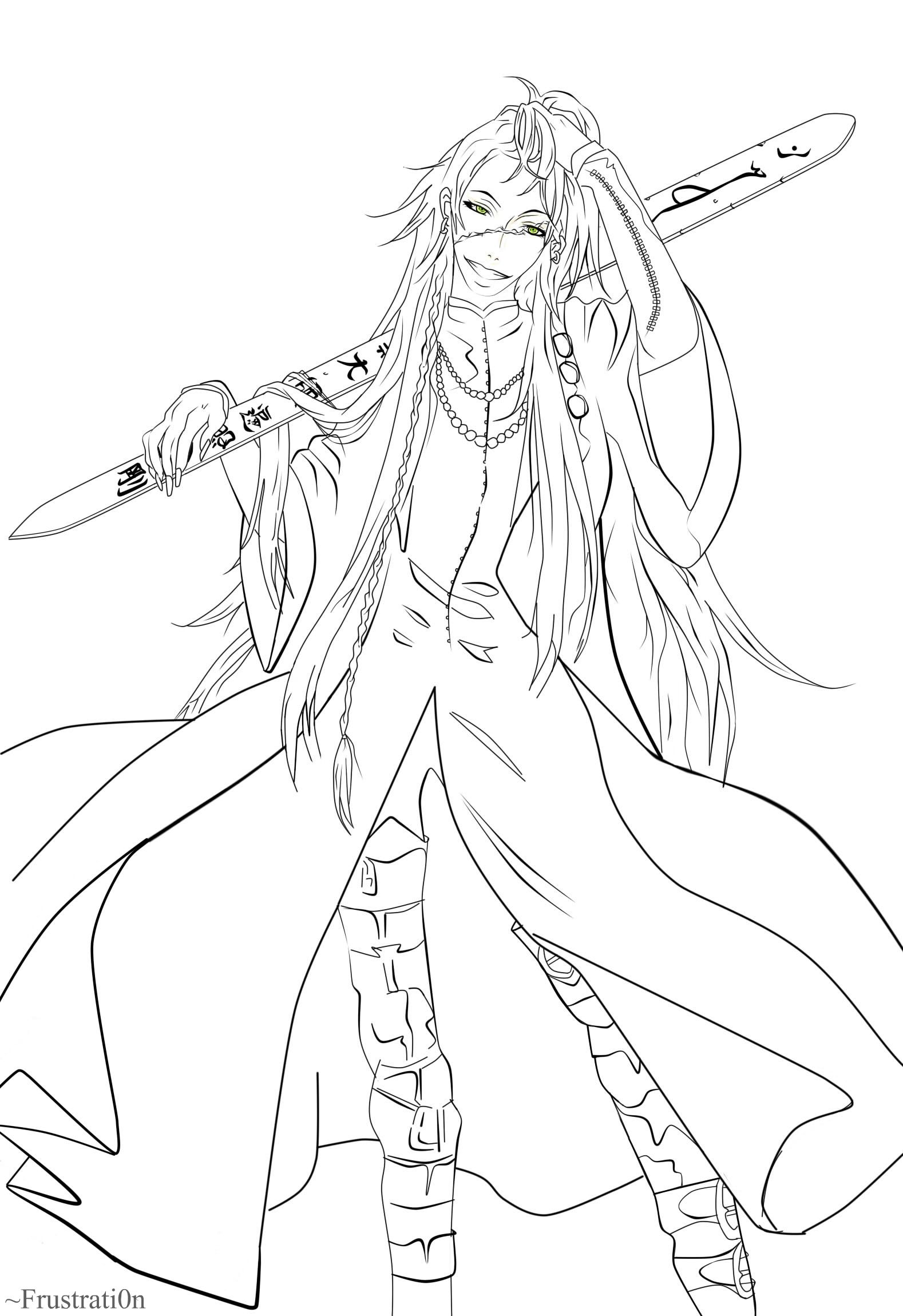 Comfortable Black Butler Coloring Pages 13634 1895x800