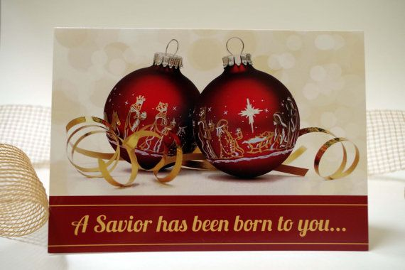 A Savior Has Been Born To You  Baby Jesus by CBendelDesigns. Digital printable available as a greeting card or postcard.  Celebrate the Reason for the Season!
