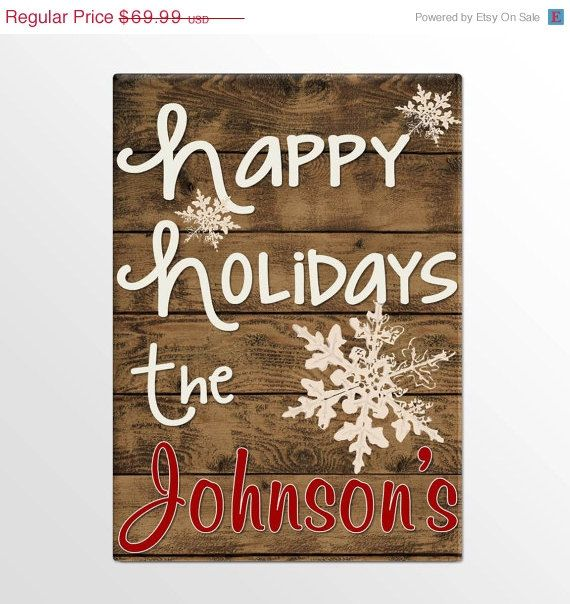 Hey, I found this really awesome Etsy listing at https://www.etsy.com/listing/169125516/on-sale-happy-holidays-personalized