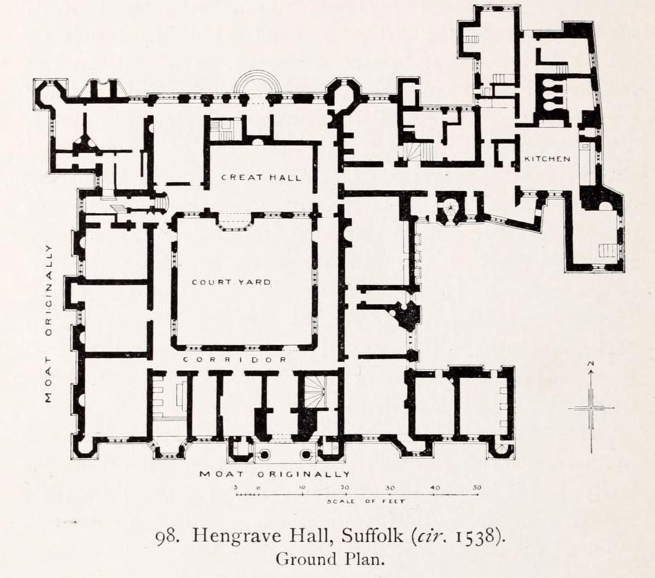 Archimaps Floor Plan Of Hengrave Hall Suffolk Floor Plans How To Plan Ground Floor Plan
