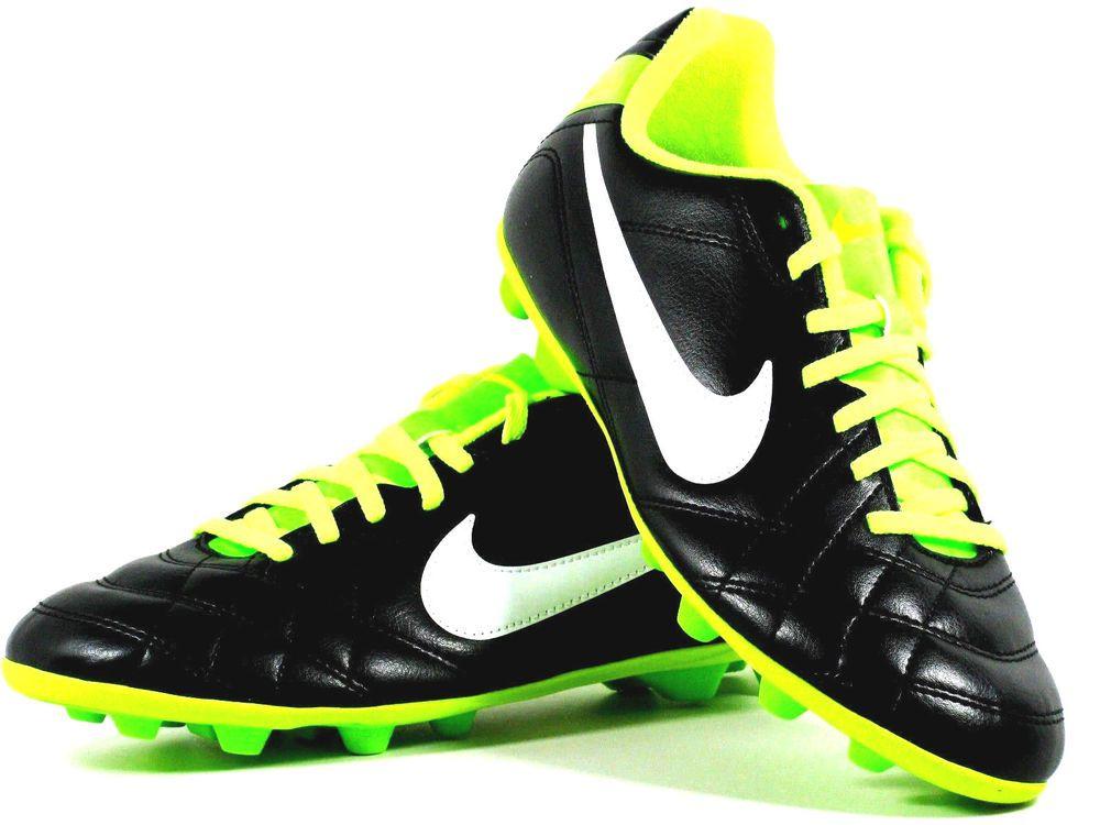 Nike Jr Tiempo Rio FG- R Youth Soccer Cleats Boys Girls Size 5.5Y Black