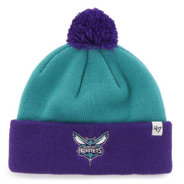 3b8e944096c Toddler Charlotte Hornets  47 Brand Teal Bam Bam Cuff Knit Hat