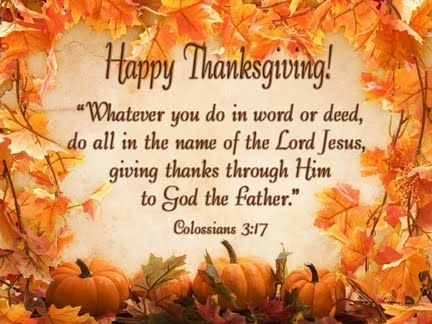 Happy Thanksgiving Religious Messages >> Happy Thanksgiving Give Thanks To Jesus For Giving Us Another