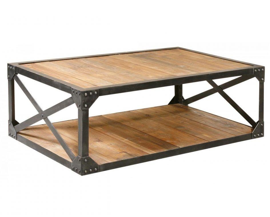 Industrial Metal And Wood Coffee Table Metal Frame Coffee Table