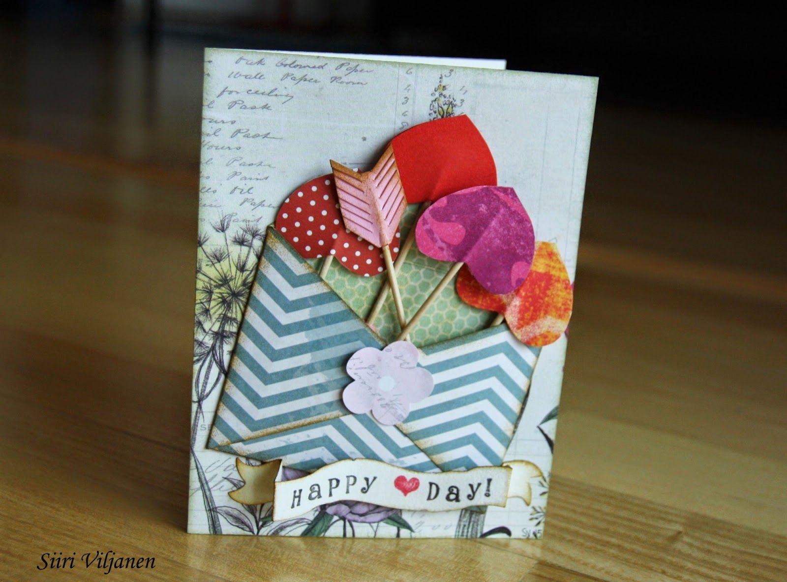 Käsitöitä flamencohame hulmuten * Siiri Viljanen - Ystävänpäivä * Valentine's day card