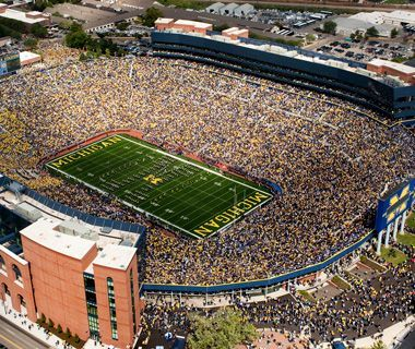 America S Best College Football Stadiums Football Stadiums Wolverines Football College Football