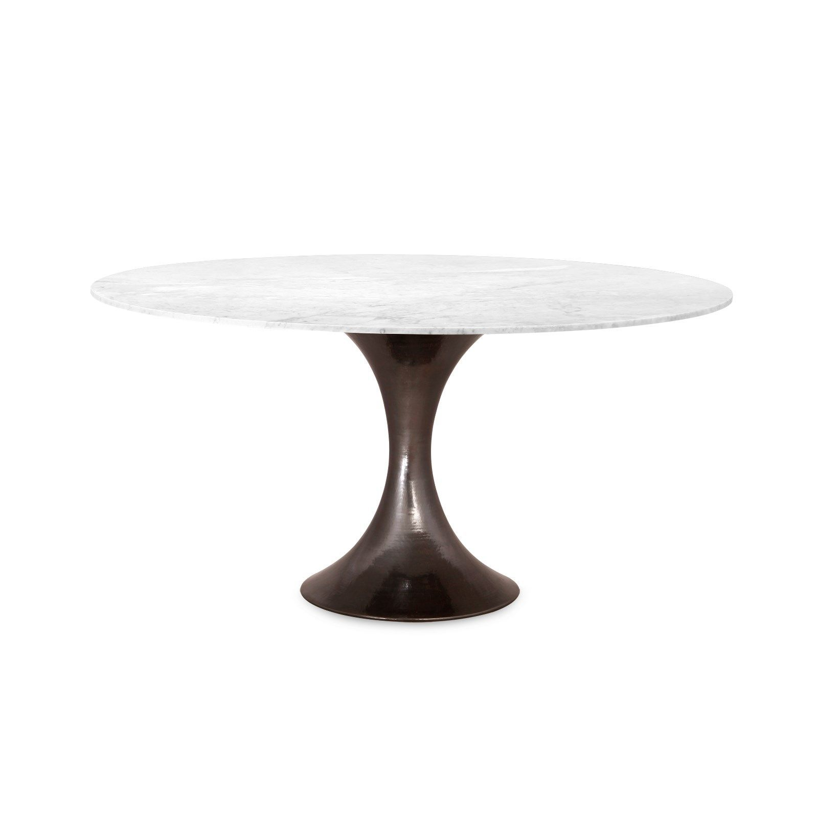 Stockholm Bronze Dining Table Base Pairs With 52 60 Top Sold Separately Dining Table Stone Top Dining Table Dining Table Bases