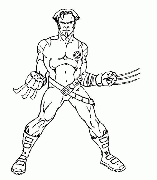30 Coloriage Wolverine Facile | Bathroom | Coloring pages, Coloring ...
