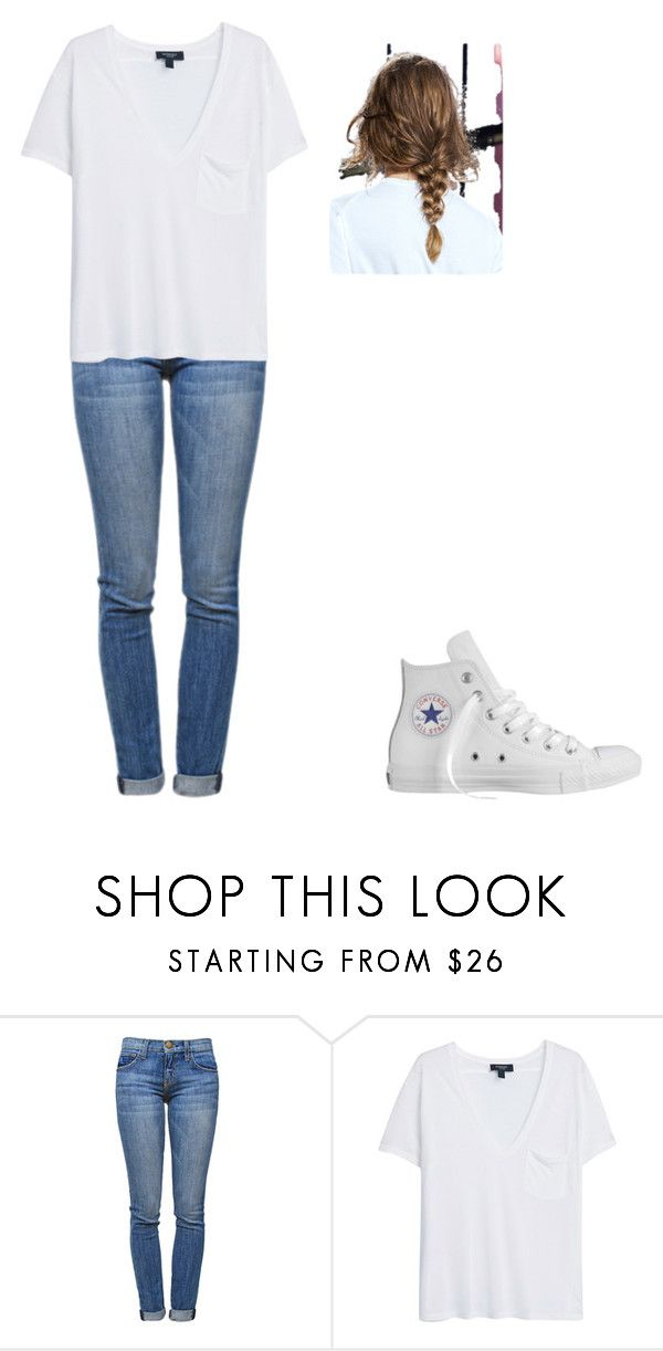 """""""Untitled #98"""" by blue-black ❤ liked on Polyvore featuring Current/Elliott, MANGO, Converse, women's clothing, women, female, woman, misses and juniors"""