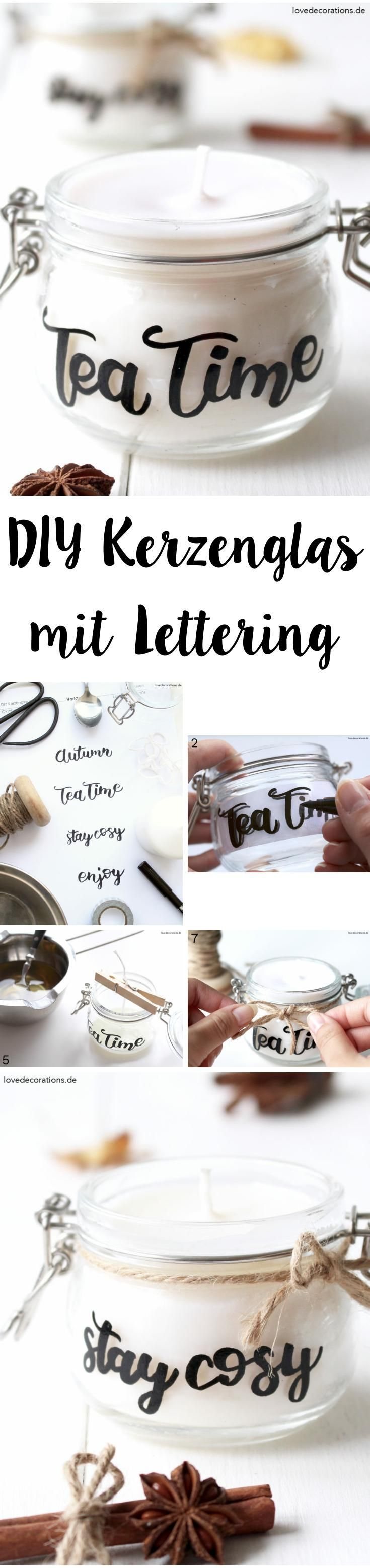 Ideas : DIY Candle Jar with Lettering | DIY Kerzenglas mit Lettering