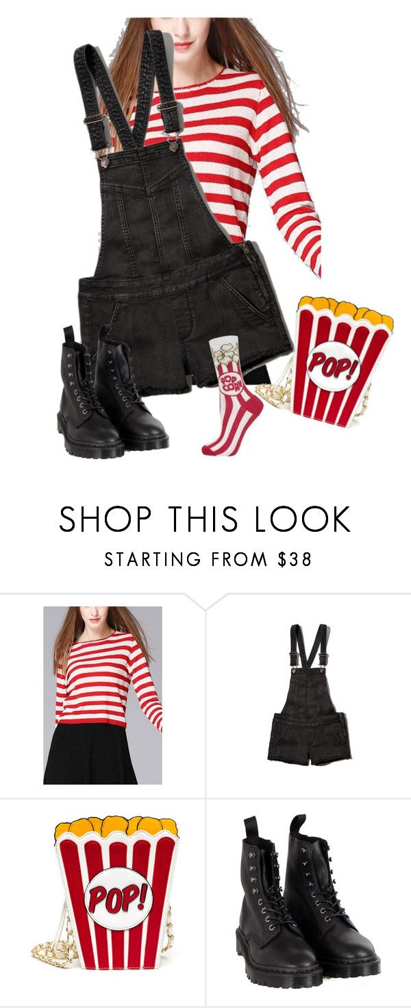 """""""Untitled #1959"""" by aimee-lowenstern ❤ liked on Polyvore featuring Abercrombie & Fitch, Dr. Martens and Topshop"""