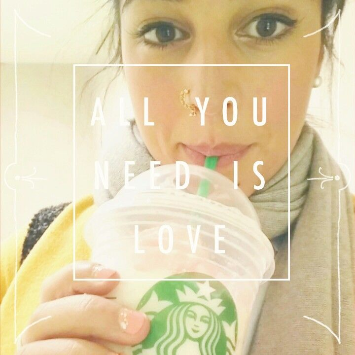 All you need is love from a cup of sugar & cream #Starbucks