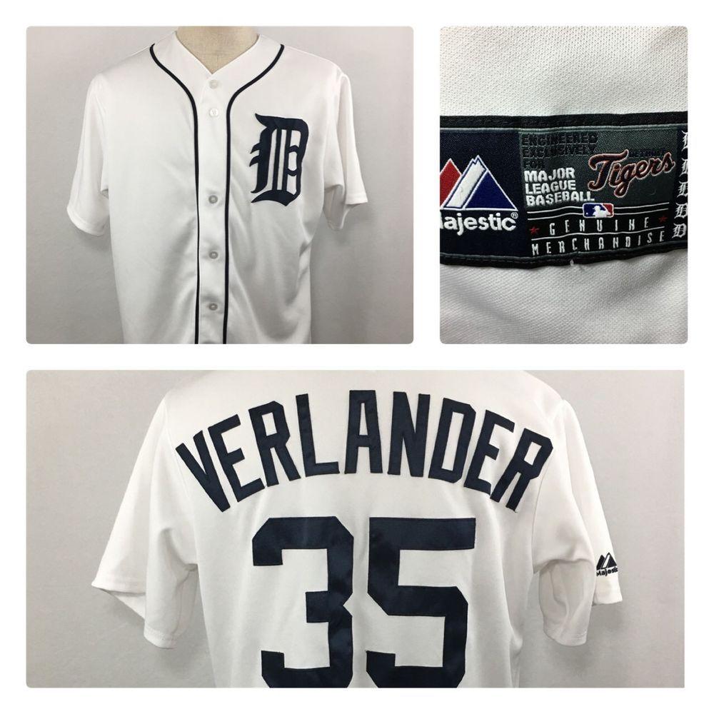 cheaper e6049 2d46d JUSTIN VERLANDER #35 Detroit Tigers Baseball Jersey Mens ...