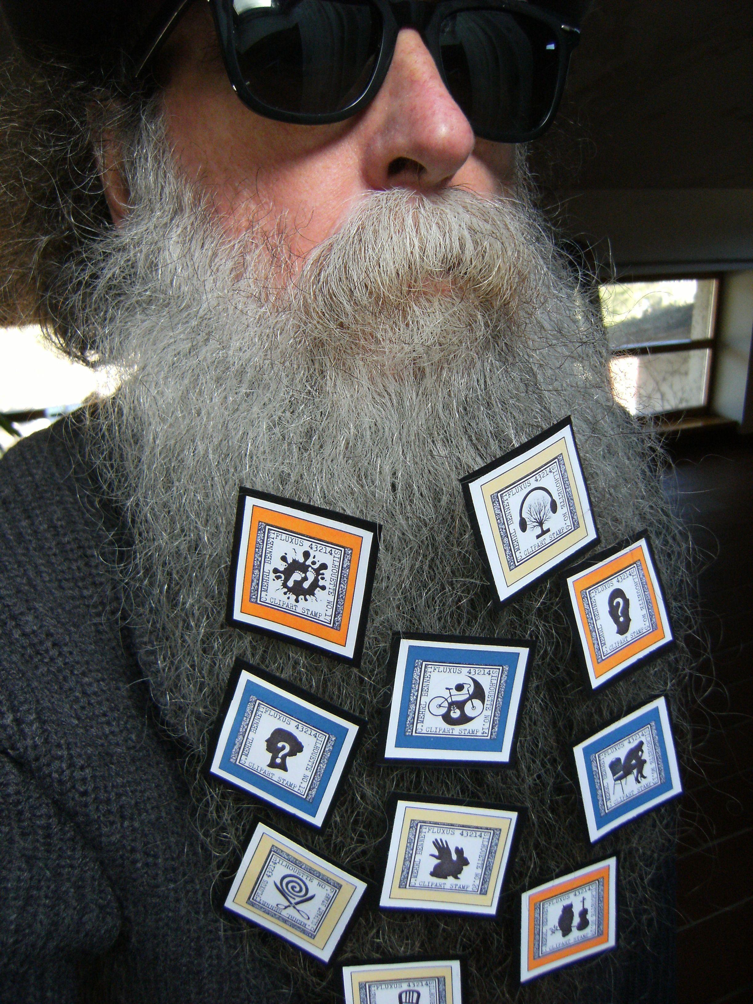BEARD GALLERY - Opere di C.Mehrl Bennet installate sulla mia barba (Galleria Pensile)