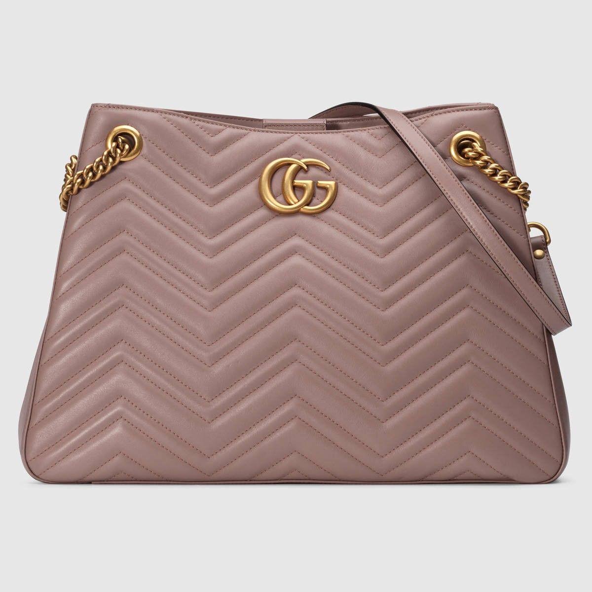 b590f3ce7080d8 GUCCI Gg Marmont Matelassé Shoulder Bag - Nude Matelassé Leather. #gucci # bags #shoulder bags #lining #suede #