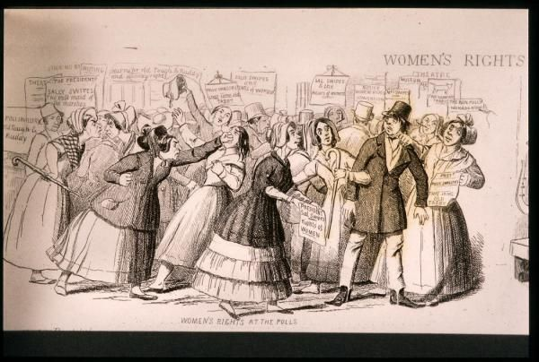 a history of the womens right movement in america Historians describe two waves of feminism in history: the first in the 19th  1777–  all states pass laws which take away women's right to vote.