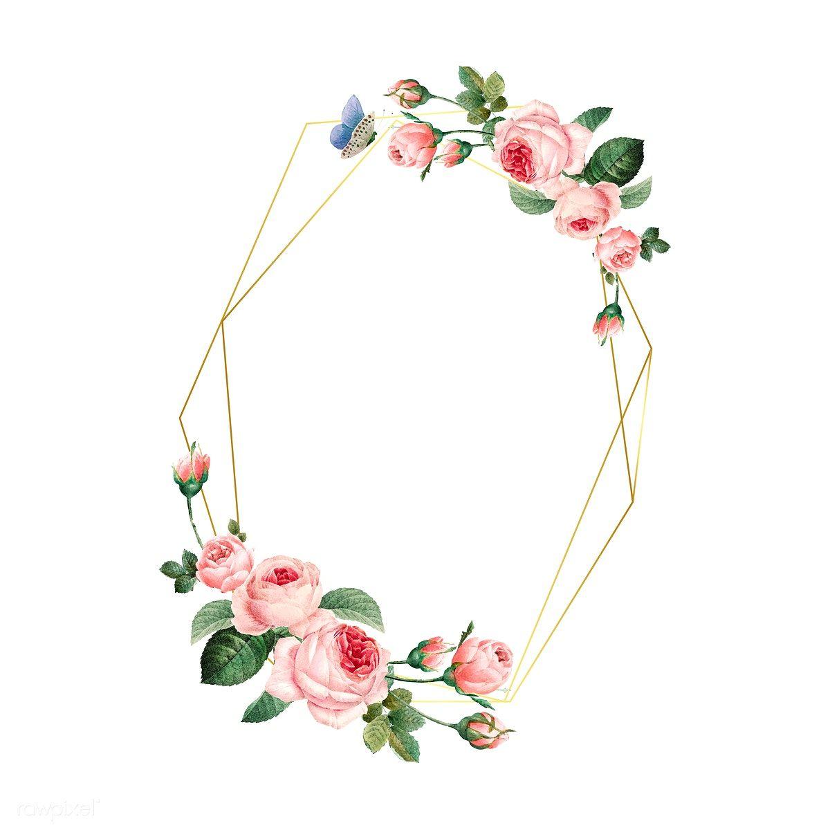 إطار مستطيل الإطار الإطار مستطيل Png وملف Psd للتحميل مجانا Flower Frame Sign Art Flower Painting