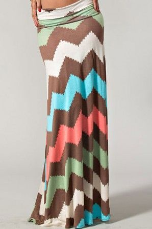 Pretty Colors Chevron Skirt
