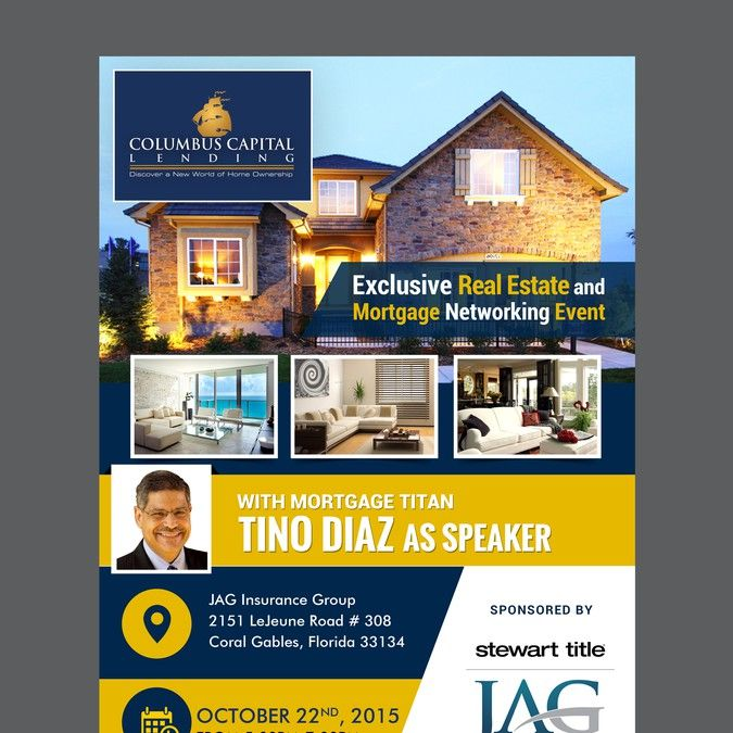 Create An Event Flyer For An ImportantExclusive Real Estate And