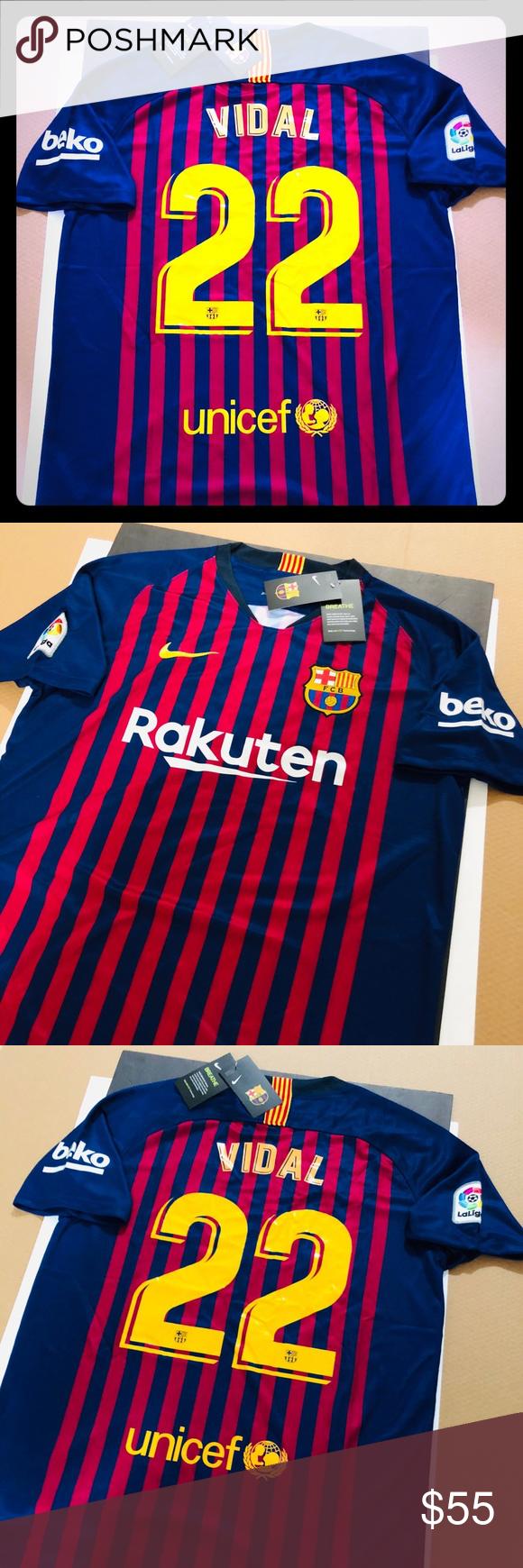 finest selection ccbf0 7a08f HOME 2018 Barcelona Soccer Jersey VIDAL #22 2018 Barcelona ...