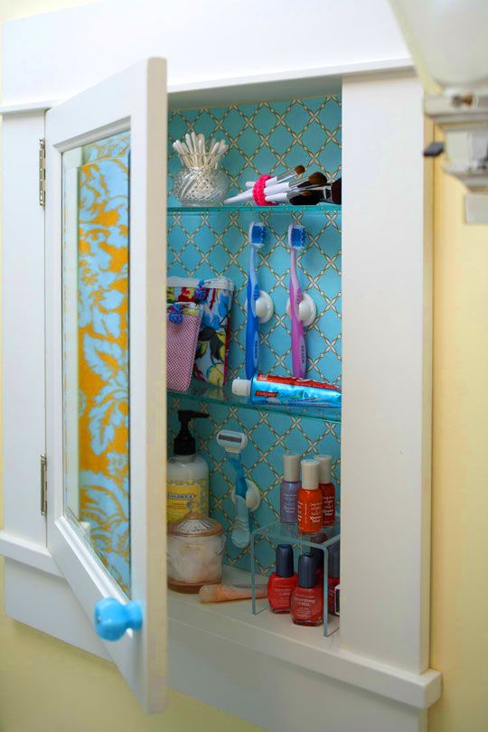 Medicine Cabinet Wallpaper Inside And Toothbrush Holders