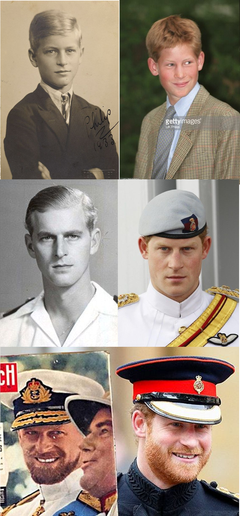I always found it odd when people said that Prince Harry ... Young Prince Philip Prince Harry