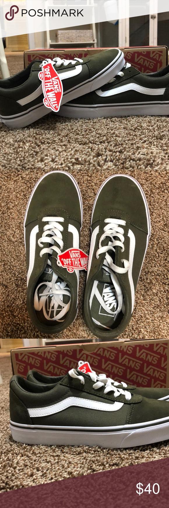992bceaaf3bc NWT never worn vans old skool 7.5 Dark green suede canvas women s 7.5  (men s 6) Vans Shoes Sneakers