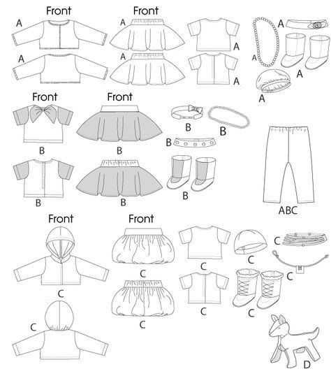 Free Printable Doll Clothes Patterns     Clothes For 18\' Doll ...