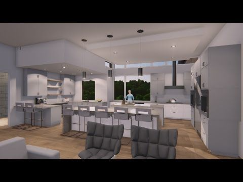 Bee Caves Contemporary home interiors animation #VanguardStudioInc