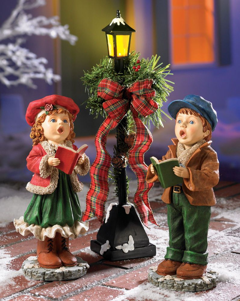 Outdoor Christmas Lamp Posts.3 Pc Set Outdoor Christmas Decoration Led Lights Lighted