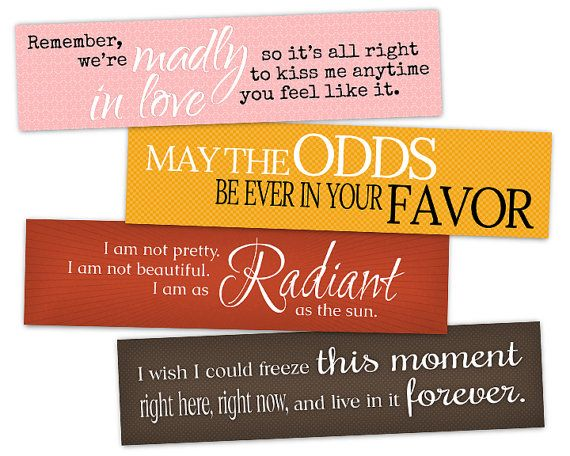 Printable Bookmarks Hunger Games Fandom - Threedesignenvy \u2022