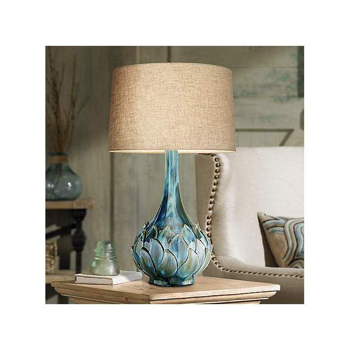 Marvelous Possini Euro Kenya Blue Green Ceramic Table Lamp Design Inspirations